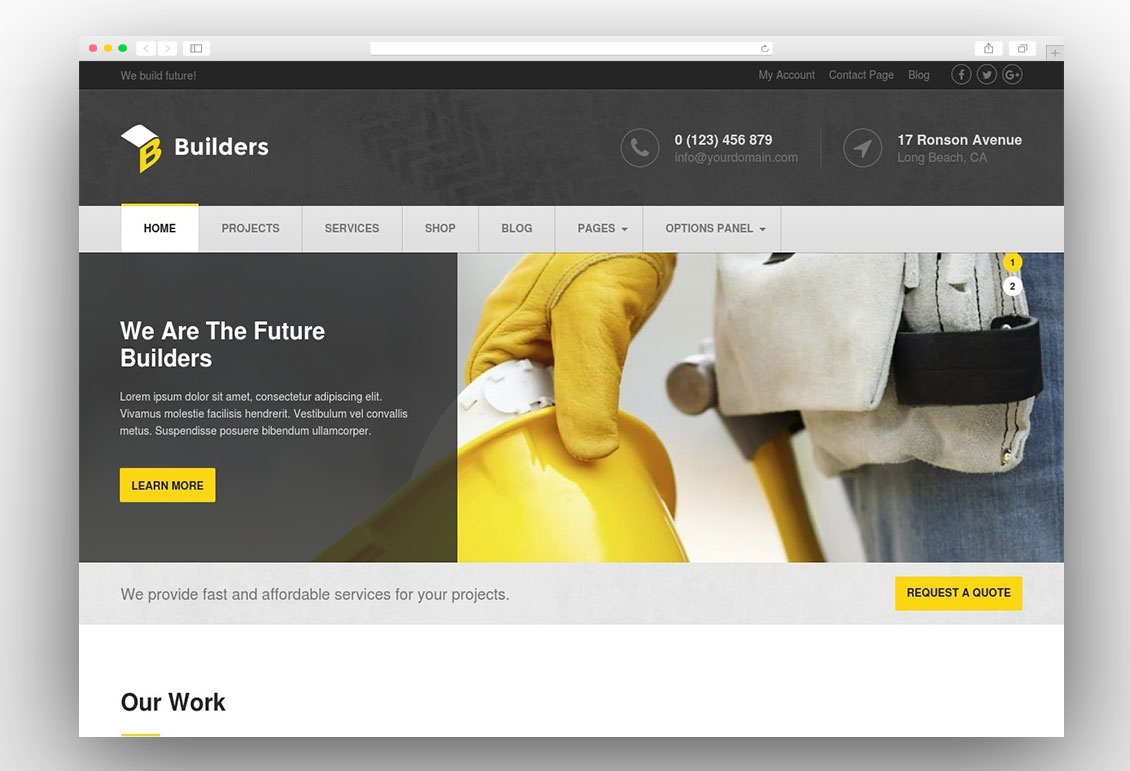 Builders Best Wordpress Theme