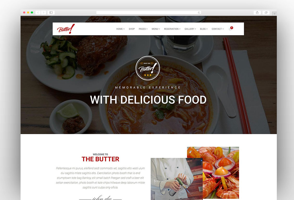 Butter Professional Restaurant Theme