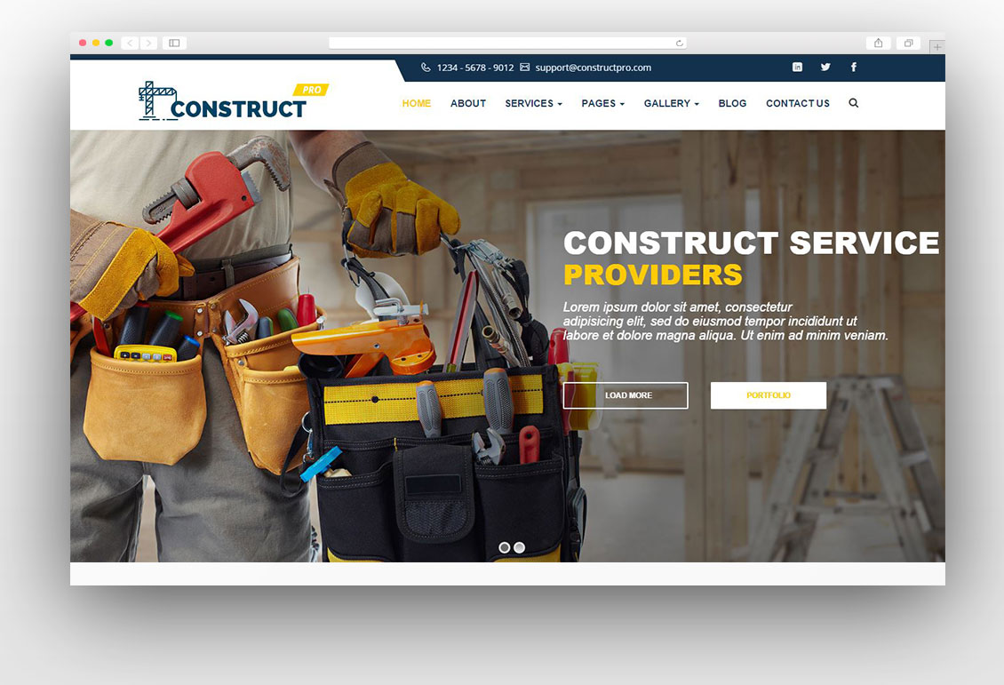 Construction - Construction Business WordPress Theme