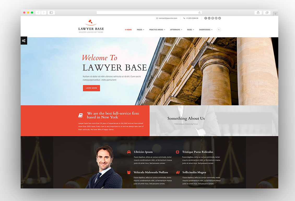 Lawyer Base Attorney WordPress Theme