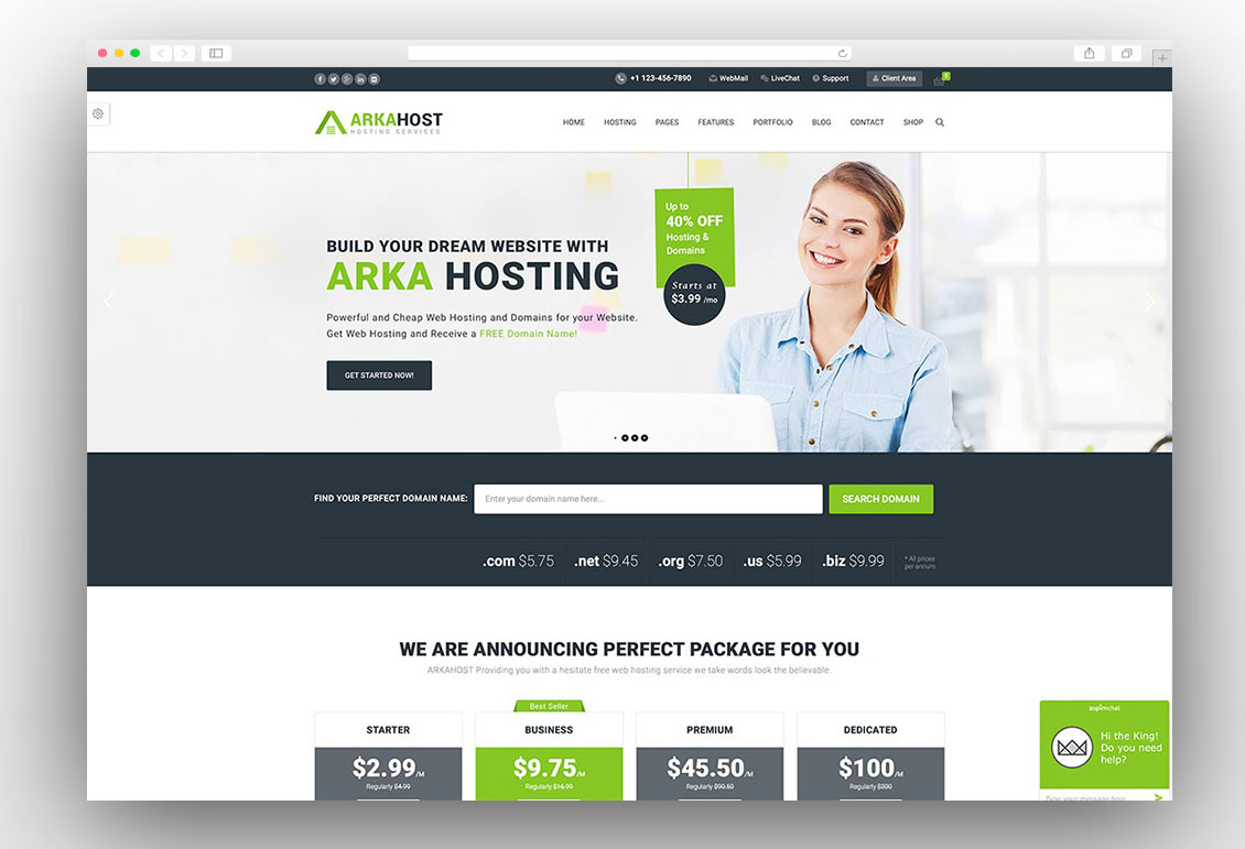 15 Best Hosting WordPress Themes With WHMCS (2018 Update)