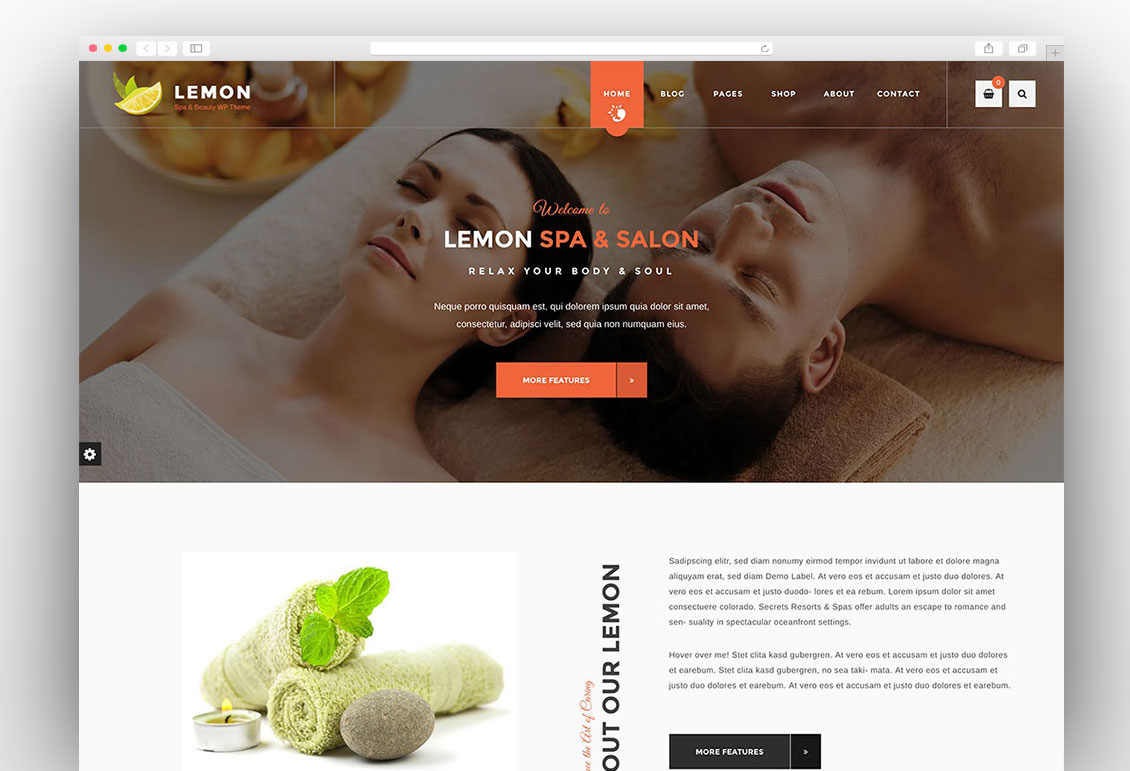 Lemon spa wordpress theme