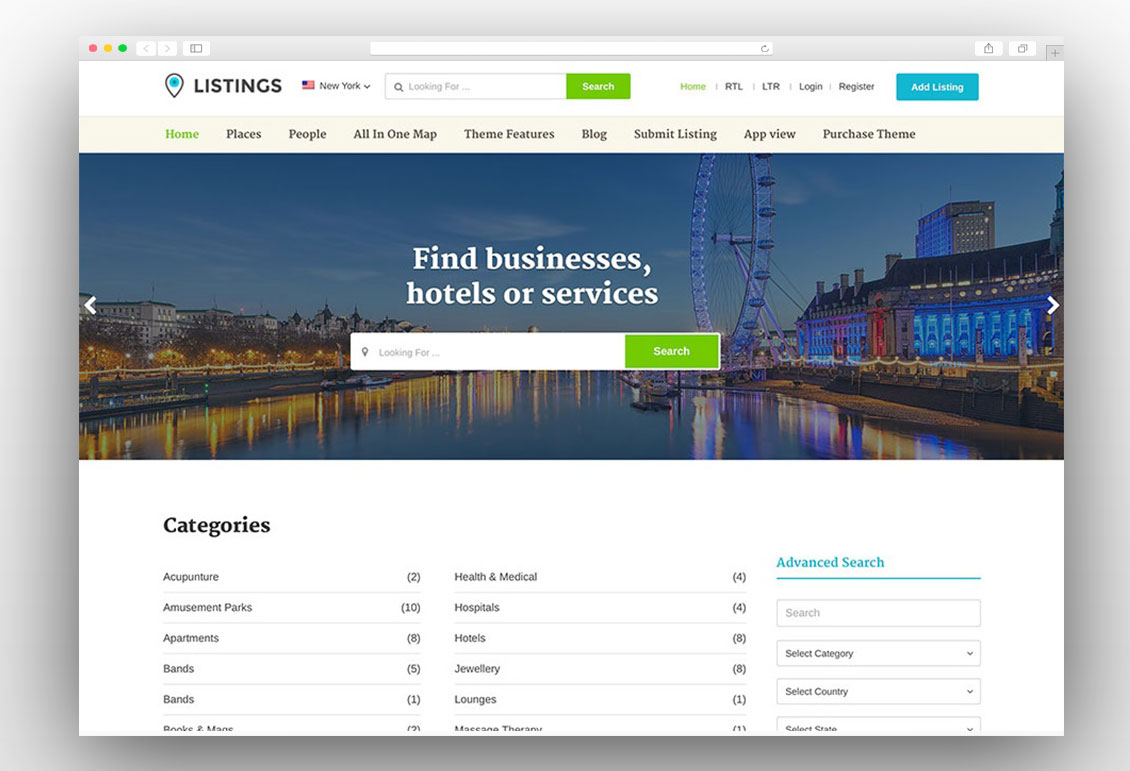 Listings by Templatic