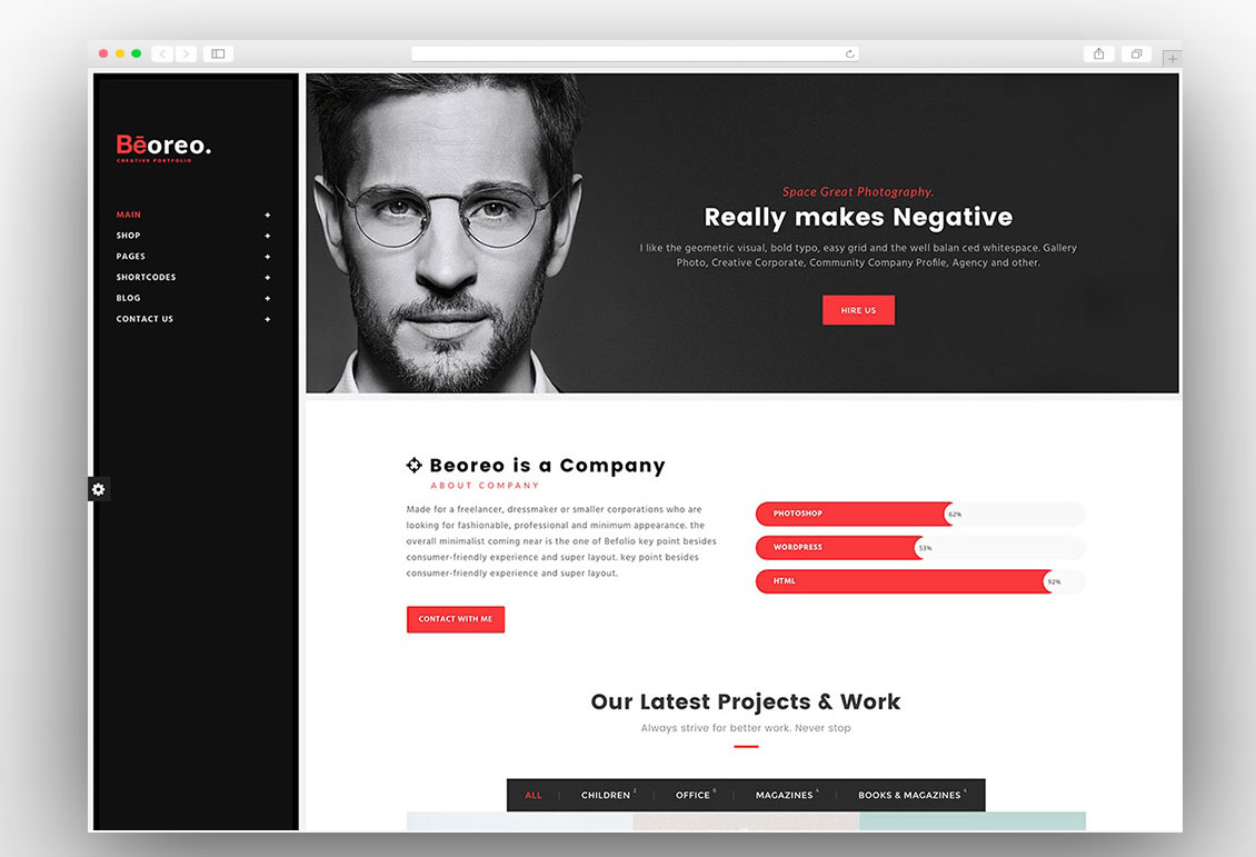 Beoreo Is A Stunning Minimal And Creative Multipurpose WordPress Theme  Which Comes With Multiple Homepage Layouts Allowing You To Create Any Type  Of Website ...  Wordpress Resume Theme