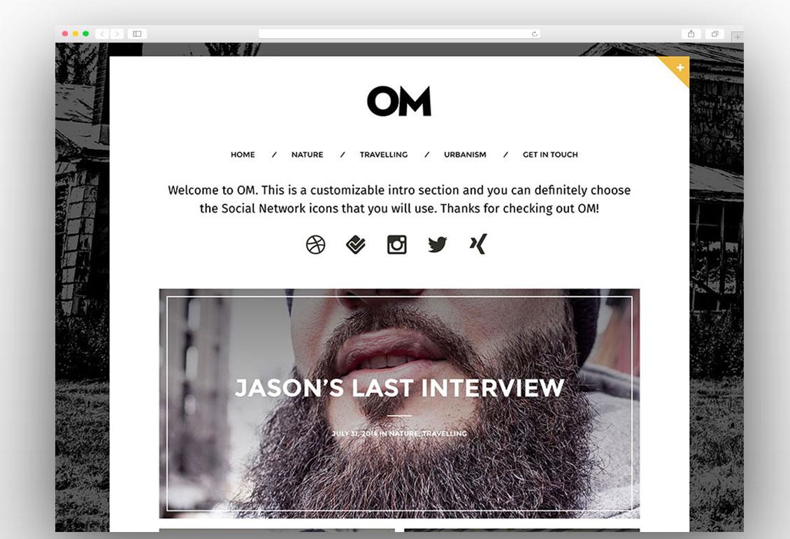OM clean blog