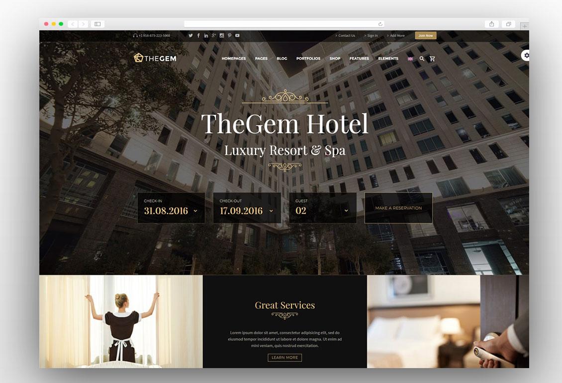TheGem hotel theme