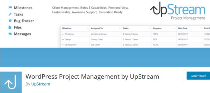 UpStream WordPress plugin