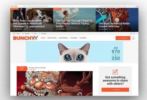 Bunchy viral wordpress theme