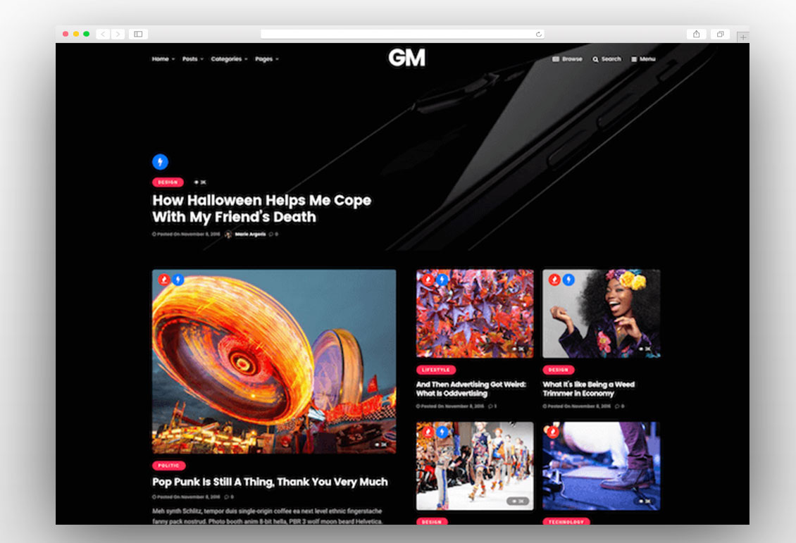Grand Magazine viral wordpress theme