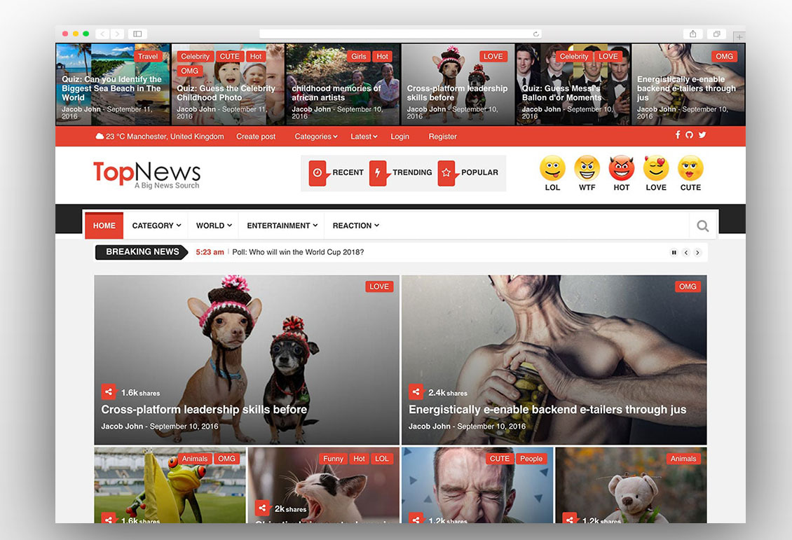 TopNews viral wordpress theme