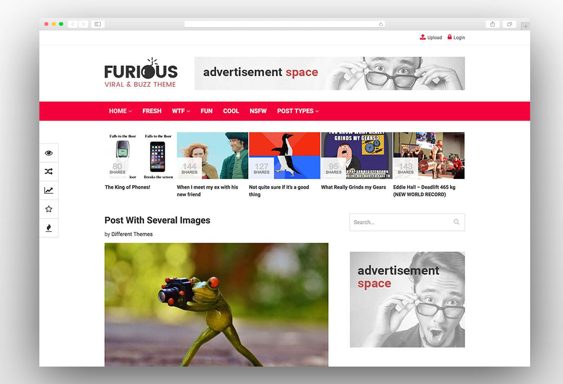 Furious viral wordpress theme