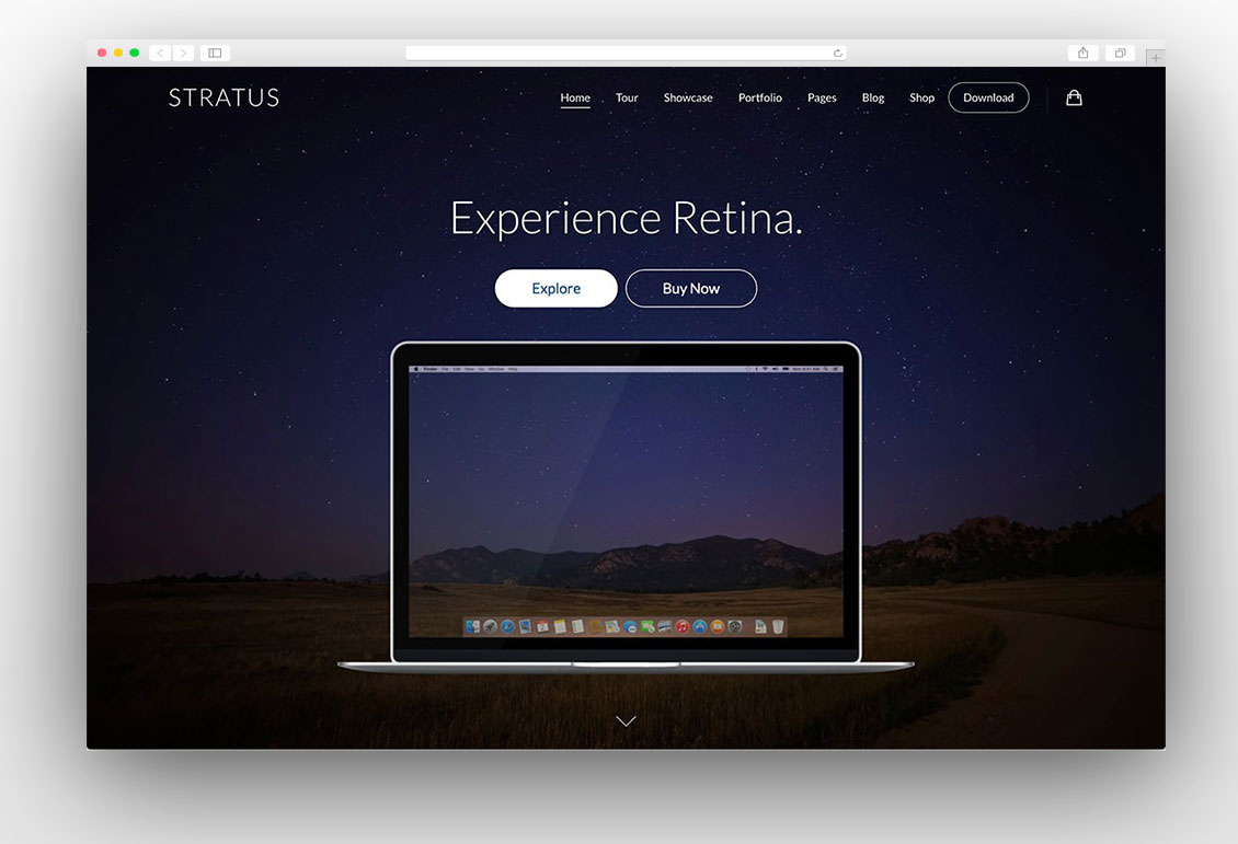 Stratus one page wordpress theme