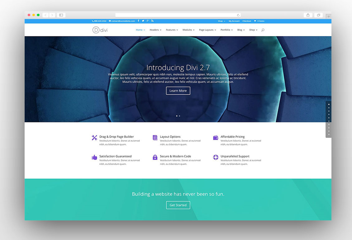 Divi multipurpose theme