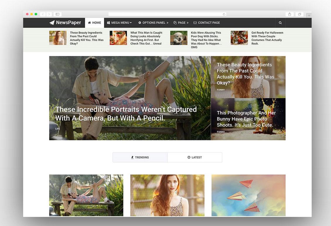 NewsPaper adsense ready wordpress theme