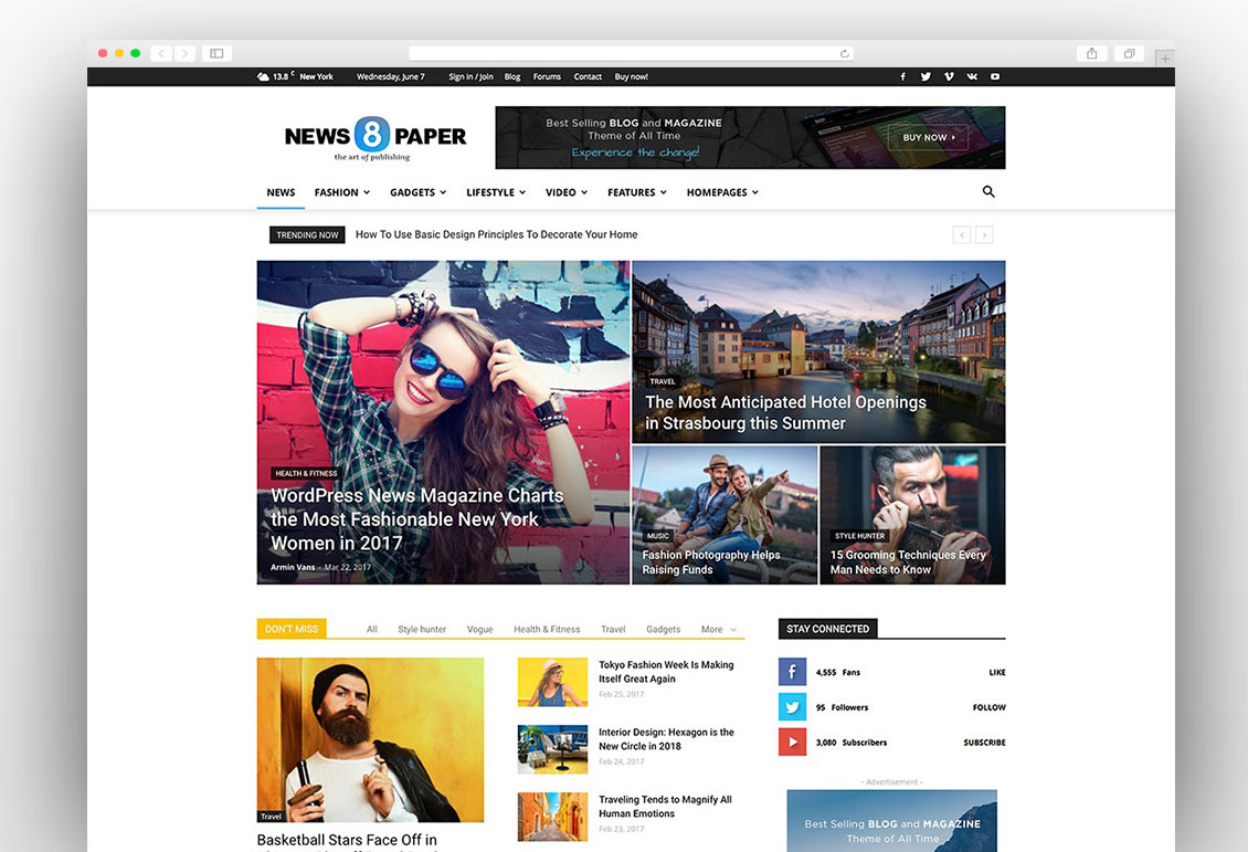 Newspaper adsense optimized theme
