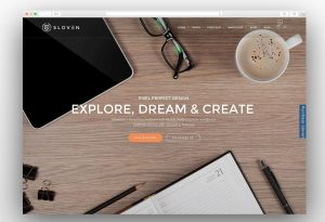 Sloven creative one page theme