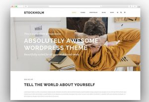 Stockholm one page theme