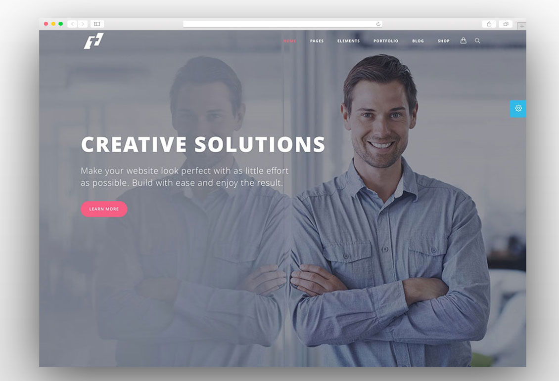 Tilt onepage wordpress theme