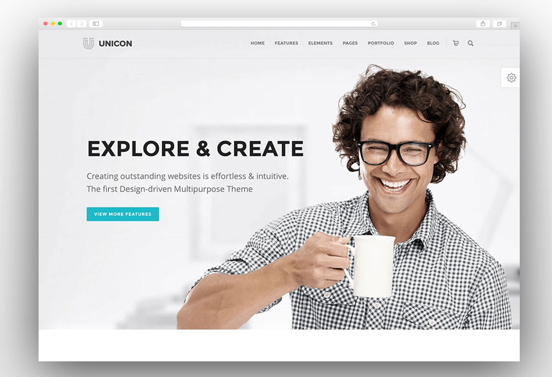 Unicon one page wordpress