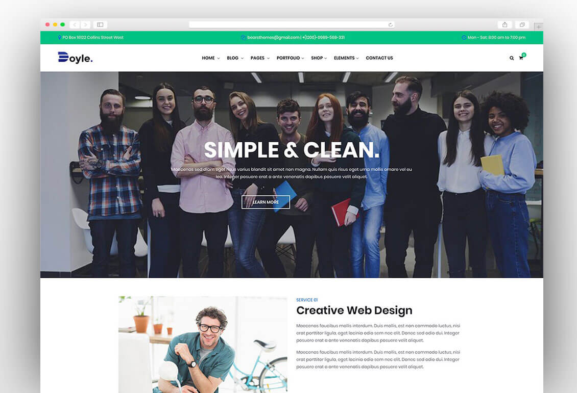 doyle-creative-design-agency-wordpress-theme