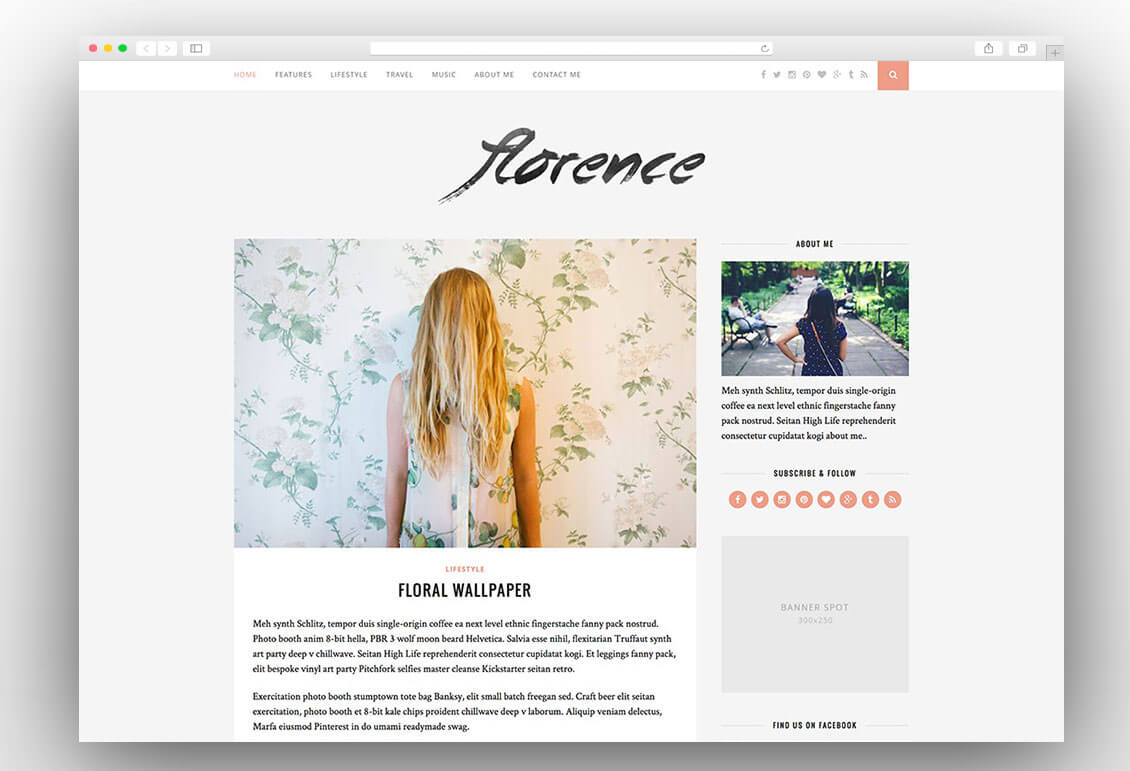 florence-creative-wordpress-blog-theme