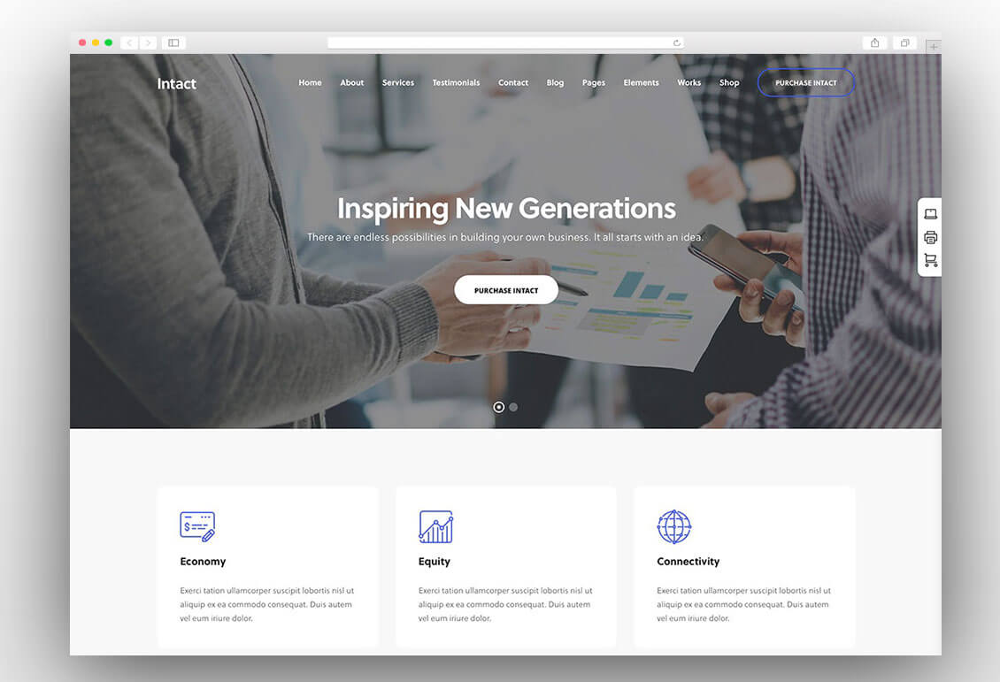 intact-corporate-simple-corporate-wordpress-theme