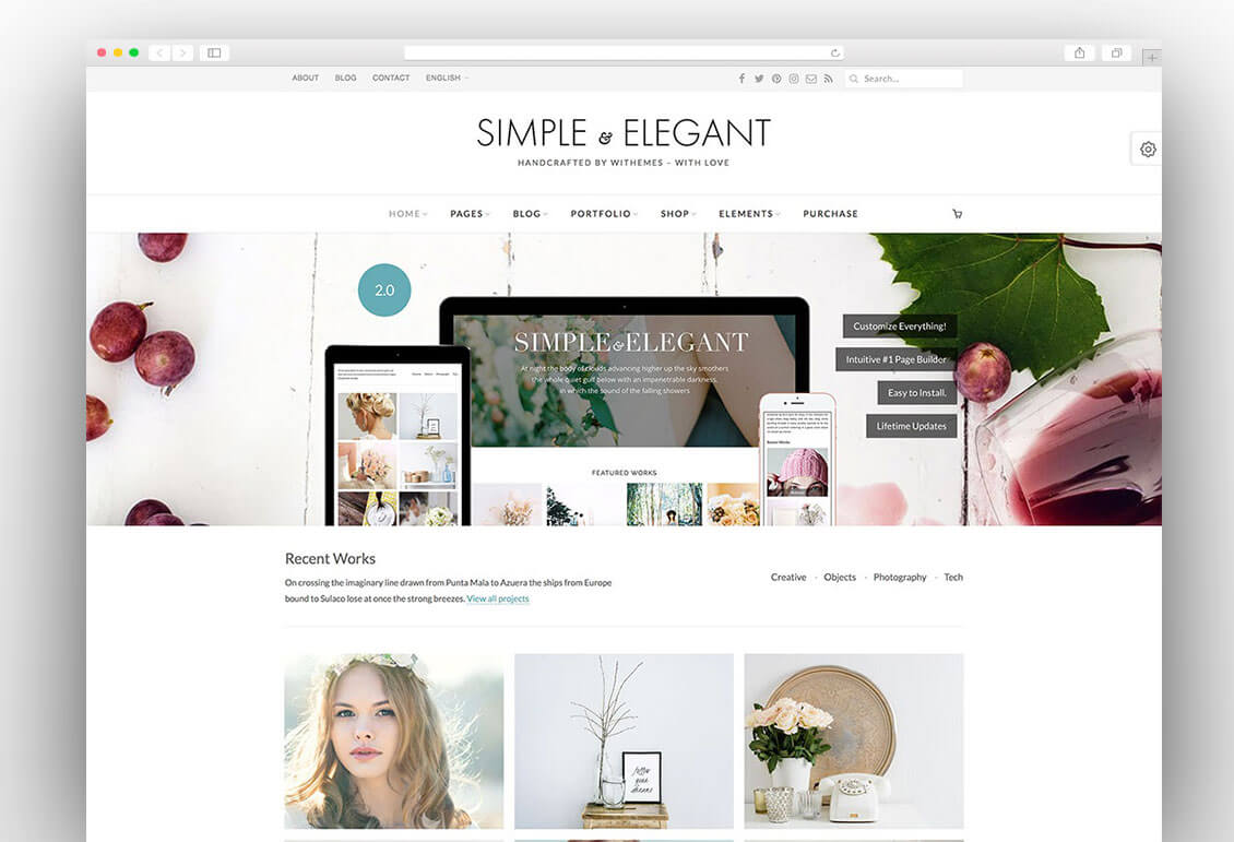 Simple & Elegant creative wordpress theme