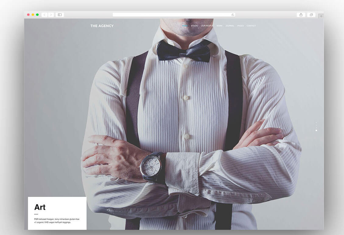 The Agency creative wordpress theme