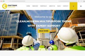 craftsman-construction wordpress theme
