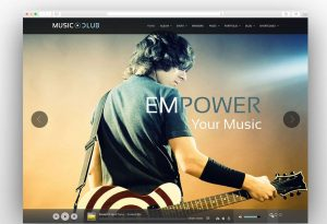 music-club-template