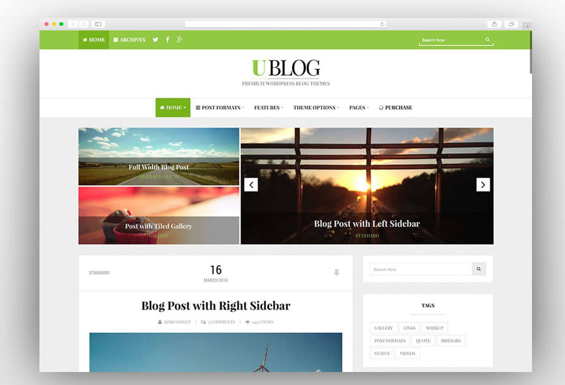 ublog-blogging-theme